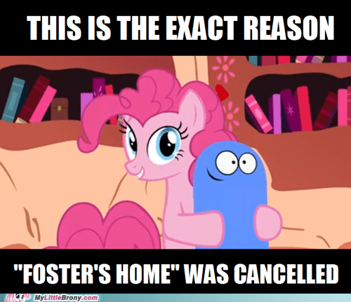 bloo pinkie pie double rainboom fosters-home - 7316433920