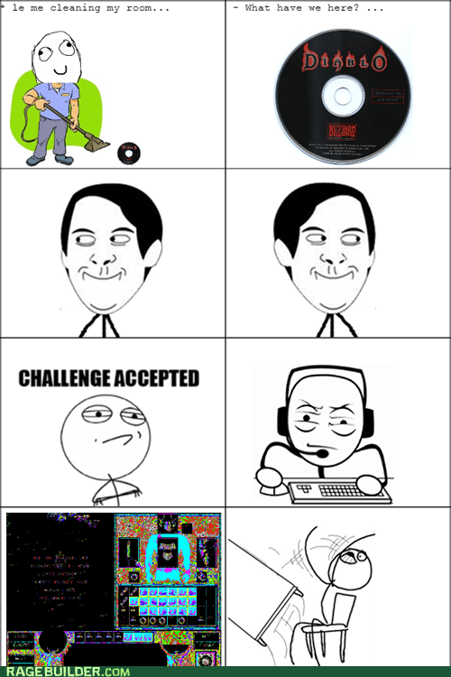 scratched disc,cds,Challenge Accepted,diablo,computer games