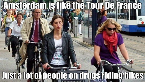 Amsterdam,drugs,tour de france,bikes