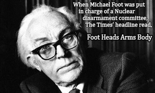 michael foot,news,nuclear disarmament