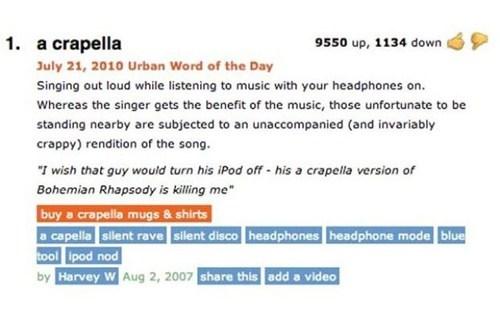 urban dictionary a cappella definitions - 7318180608