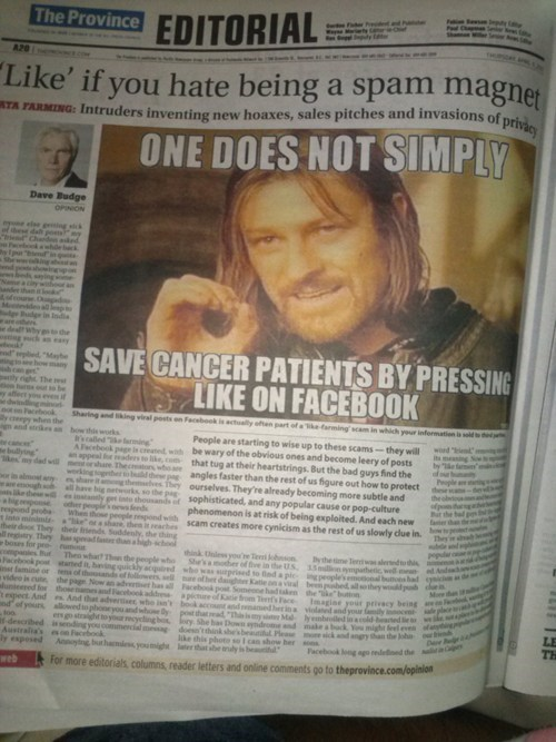 one does not simply facebook newspaper g rated win - 7318560000