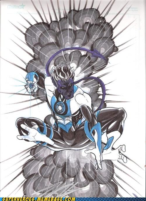 art,blue lantern,nightcralwer