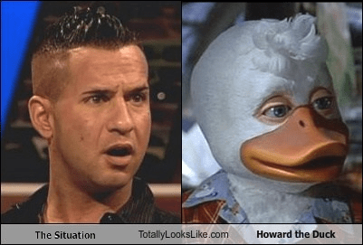 hair the situation howard the duck totally looks like