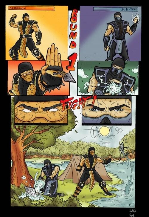 Mortal Kombat comics camping - 7319346944