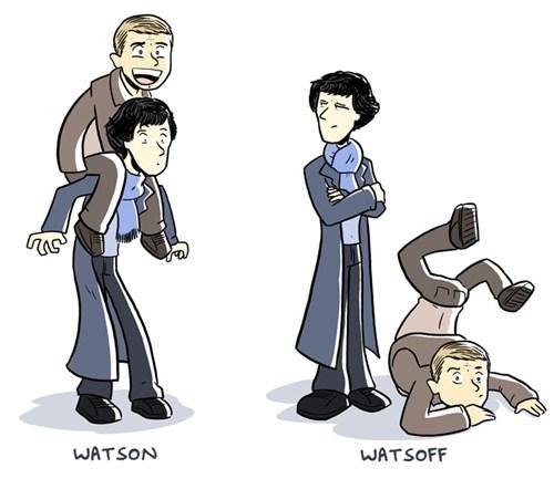 piggyback ride,art,Sherlock,Watson