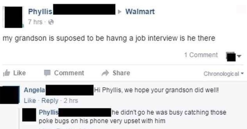 adorable cringe innocent old people social media old people facebook misguided text message grandma Grandpa Walmart grandparents - 7321093