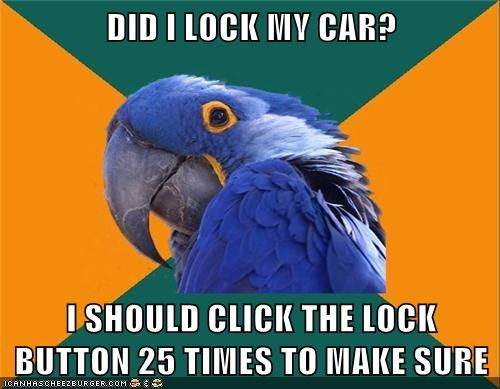 locks cars Paranoid Parrot