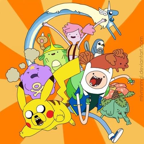 crossover Pokémon Fan Art adventure time - 7321512192