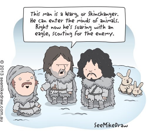 Game of Thrones,warg,see mike draw,sexytime,comics