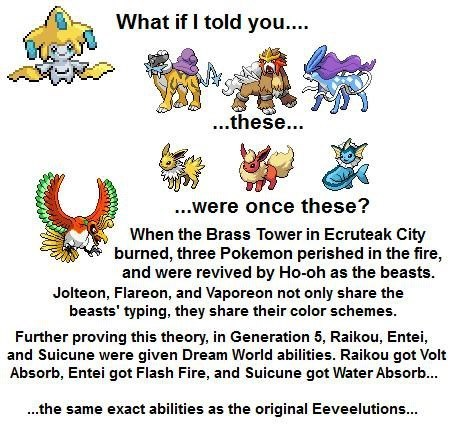 ho-oh,eeveelutions,theories,legendaries