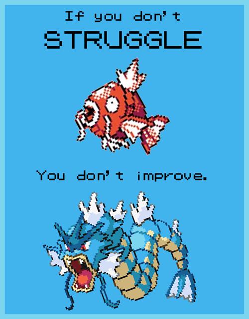 gyarados magikarp evolution struggle life lessons