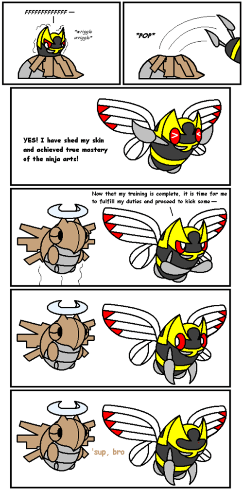evolution comics ninjask shedinja