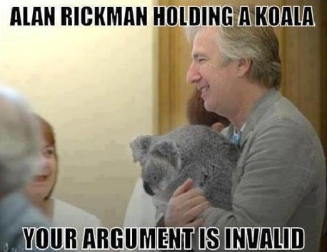 Alan Rickman your argument is invalid koala - 7322202368