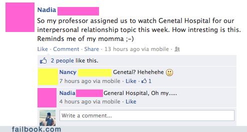 general hospital,genetal hospital,spelling