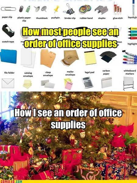 christmas office supplies funny - 7322596608