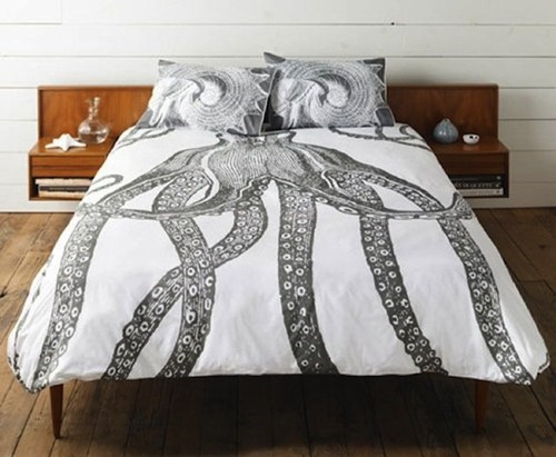 bedding design sheets octopus