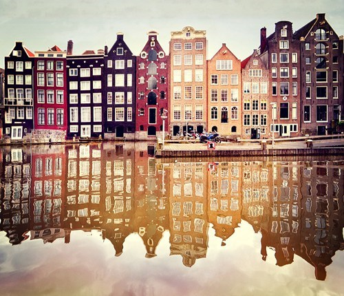 Amsterdam,city,reflection
