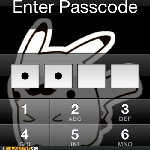 iphone,pikachu,passcode,g rated,AutocoWrecks