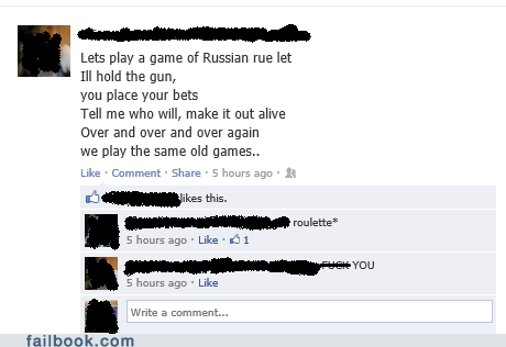 rue the day,roulette,russian roulette,rue let,spelling