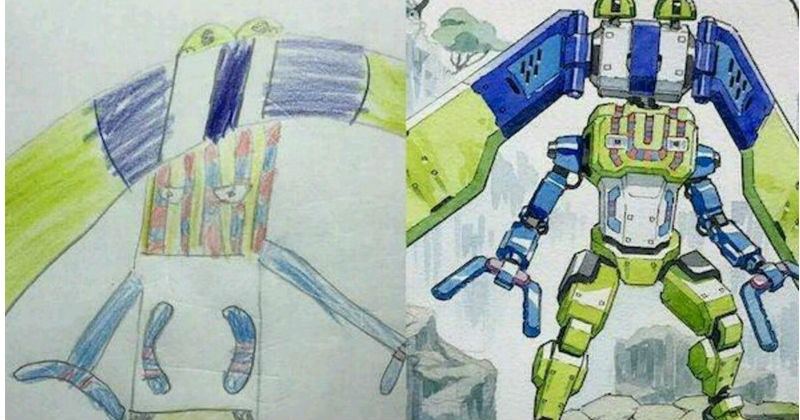 doodles anime artist dad sketches family son WoW skills art amazing robots science fiction animals - 7326981