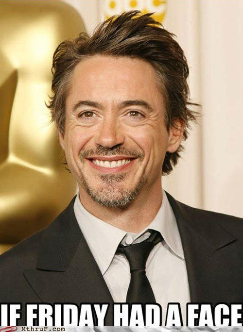FRIDAY robert downey jr faces - 7327094272
