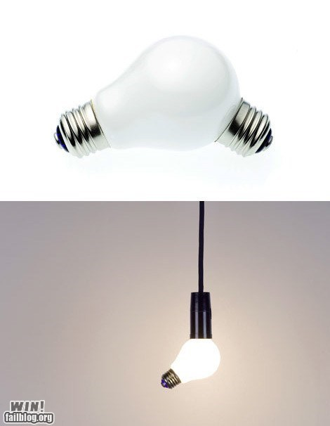 clever design light bulb