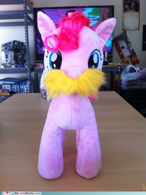 plushies IRL pinkie pie mustaches - 7327309312