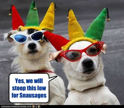 Yes, we will stoop this low for Snausages