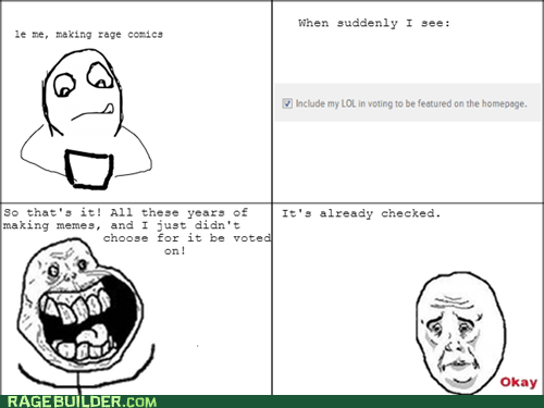 forever alone okay guy making rage comics Okay