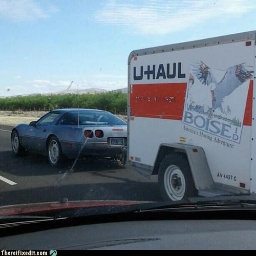 corvettes,u-haul,hauling