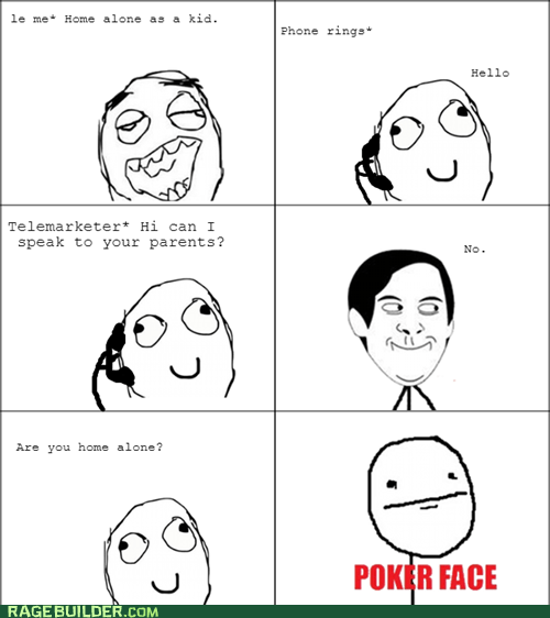 Home Alone poker face funny