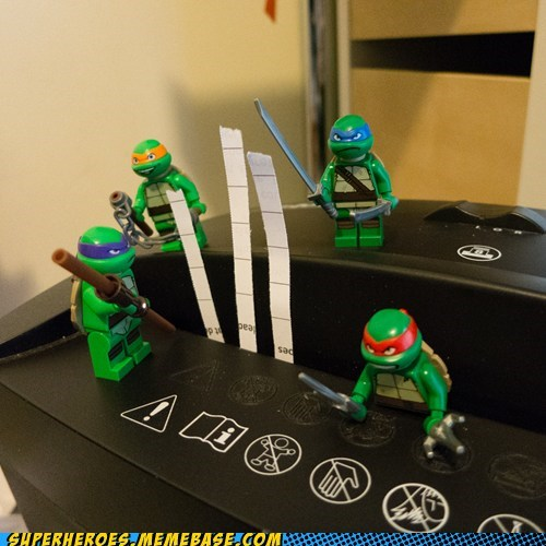 TMNT,paper,shredder