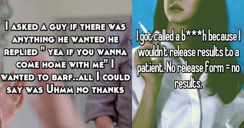 Whisper confessions of rude comments that customers said