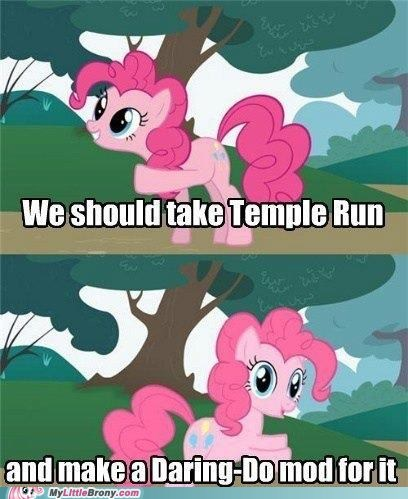 temple run,mods,pinkie pie,daring do,video games