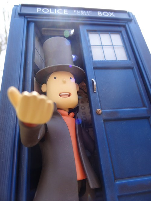 crossover doctor who professor layton video games - 7333990912