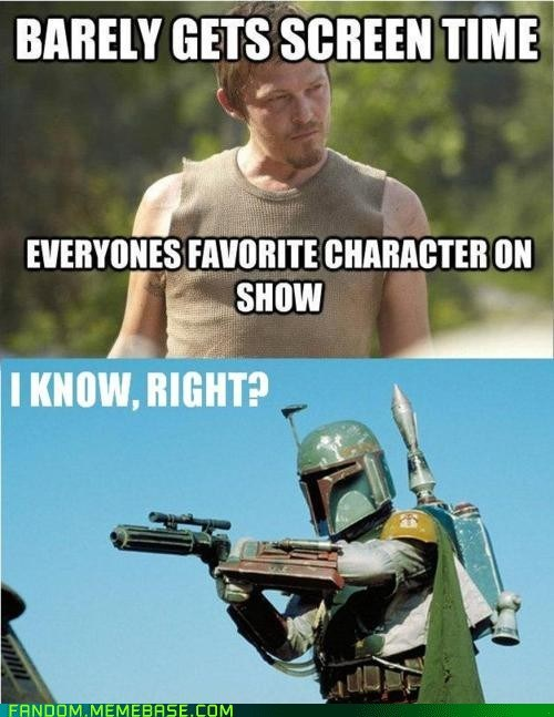 daryl dixon,star wars,The Walking Dead,boba fett