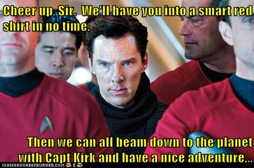benedict cumberbatch,red shirt,Star Trek