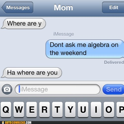 autocorrected iPhones math algebra - 7335330816