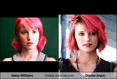 Haley Williams,totally looks like,dianna argon
