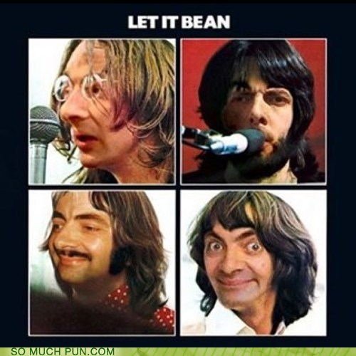 beatles,mr-bean,let it be