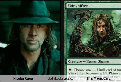 magic cards totally looks like nicolas cage amazing - 7336462848