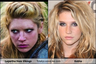 lagertha,vikings,totally looks like,kesha
