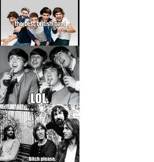 one direction,the Beatles,pink floyd,British