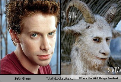 where the wild things are goats seth green totally looks like - 7338790656