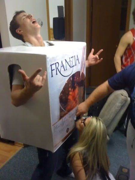 wine,boxed wine,franzia,costume,poorly dressed