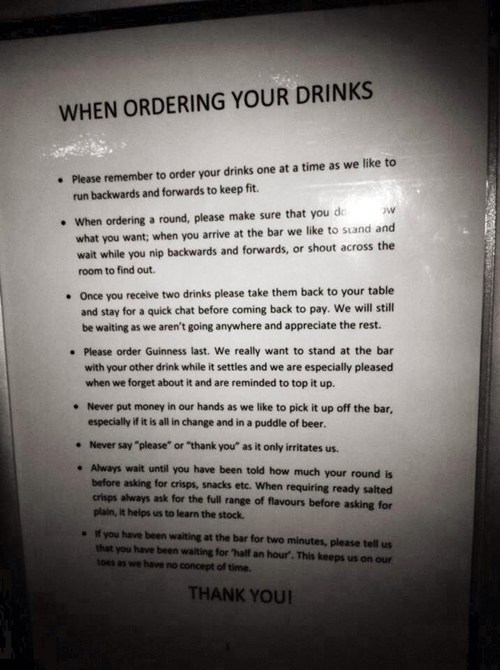 bars,bartenders,rules,ordering drinks,after 12