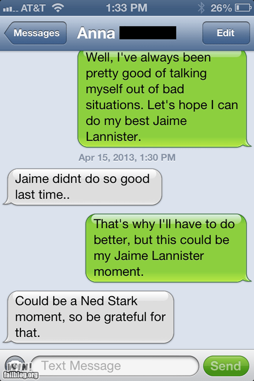 jaime lannister,Game of Thrones,iPhones,ned stark
