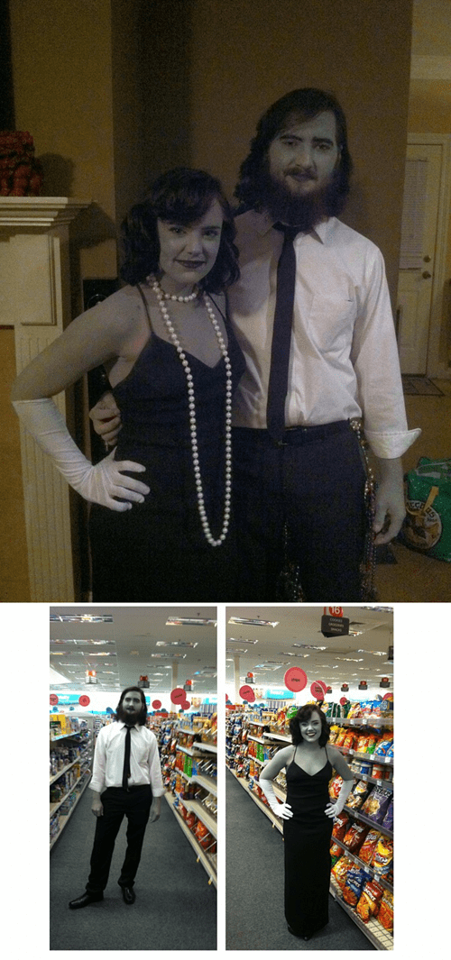black and white couples costume - 7340500992