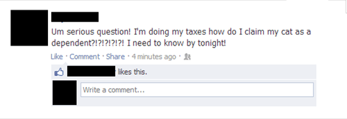doing your taxes IRS taxes tax dependents failbook g rated - 7340558848